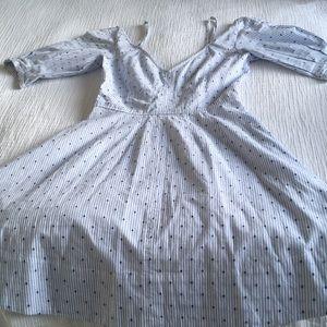 Blue / White strip cotton dress, 0